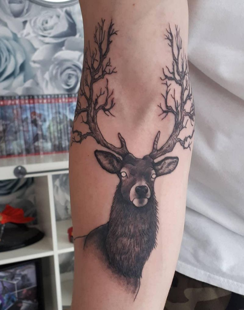 30 Pretty Stag Tattoos That Improve Your Taste