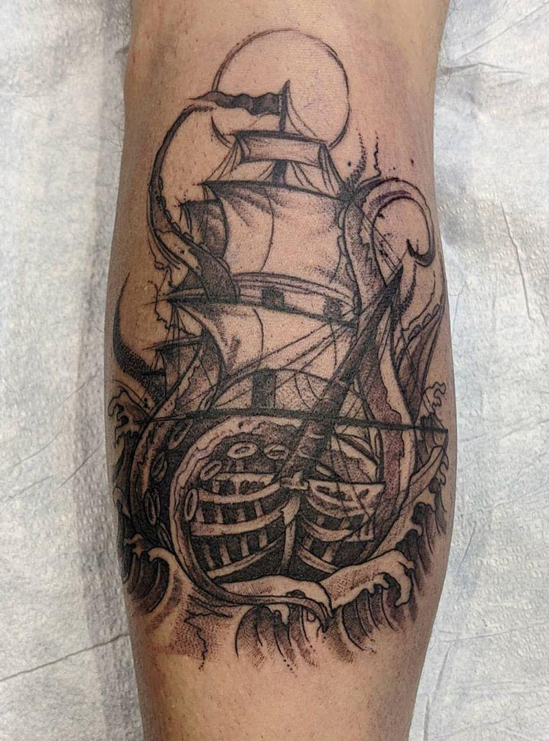 30 Creative Kraken Tattoos to Inspire You