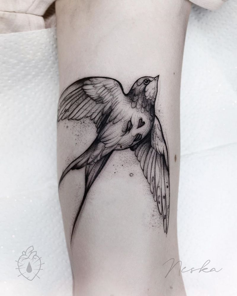 30 Stunning Swallow Tattoos for You to Enjoy