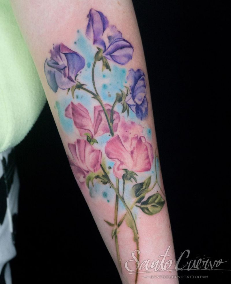 30 Pretty Sweet Pea Tattoos You Will Love