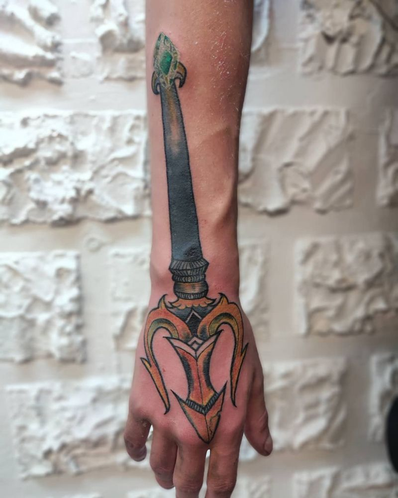 30 Creative Trident Tattoos for Your Inspiration