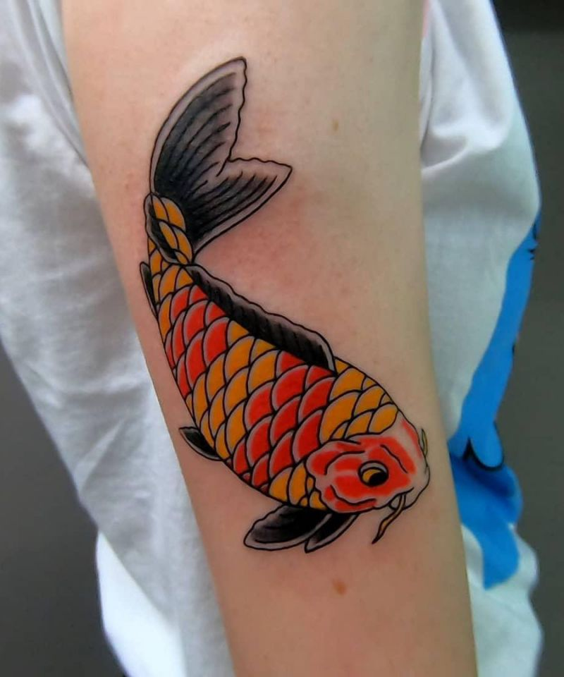 30 Pretty Carp Tattoos to Inspire You