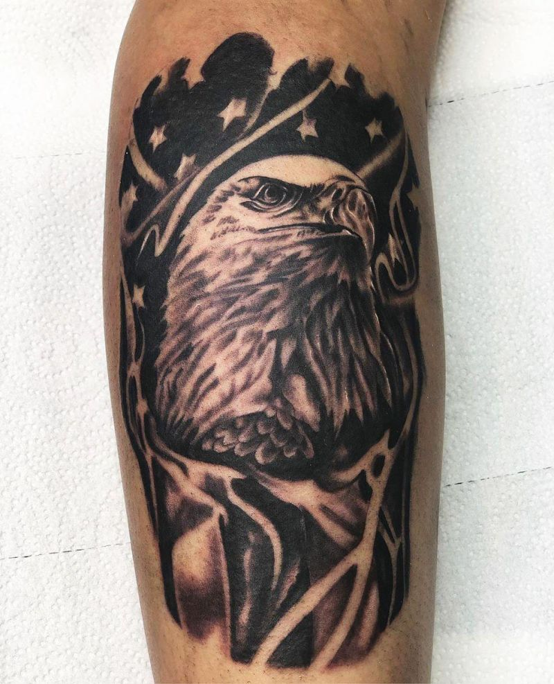 30 Pretty Bald Eagle Tattoos for Men