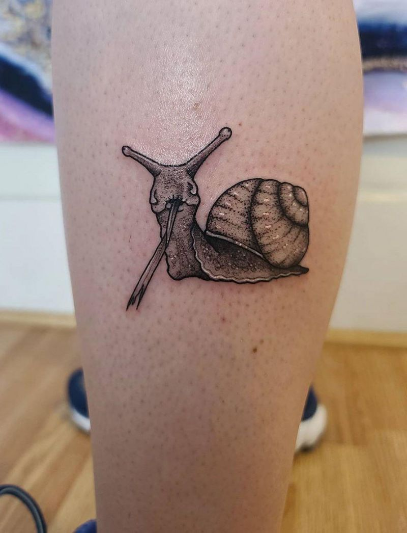 30 Cute Snail Tattoos That You Can't Miss