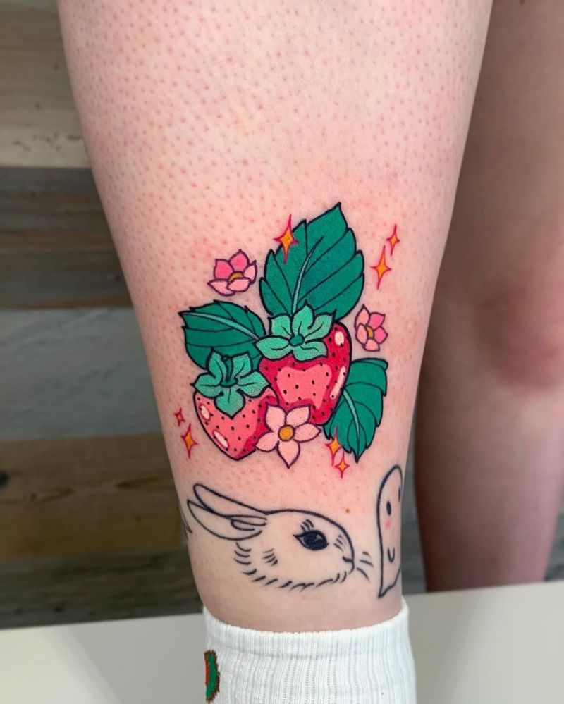 30 Pretty Strawberry Tattoos You Will Love