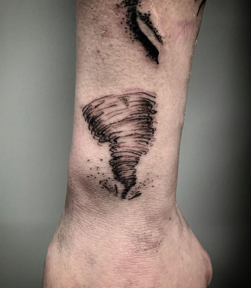 30 Pretty Tornado Tattoos to Inspire You