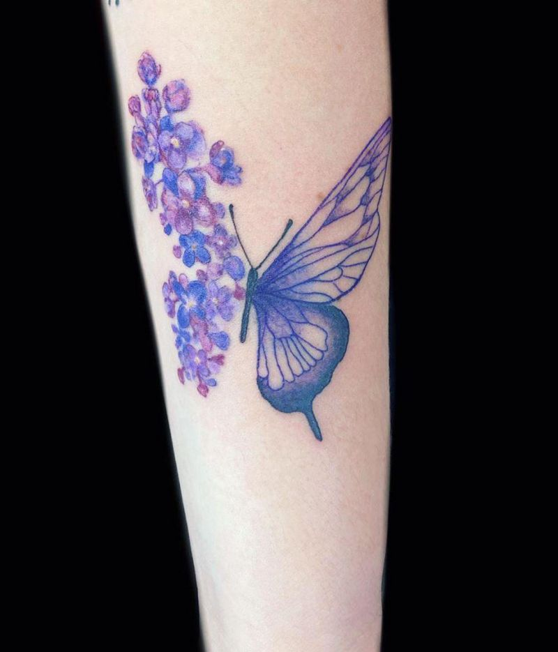 30 Pretty Lilac Tattoos to Inspire You