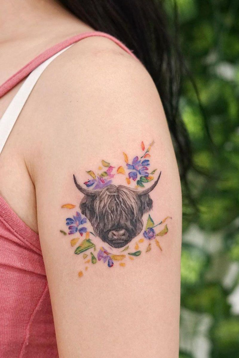 30 Pretty Bull Tattoos You Will Love