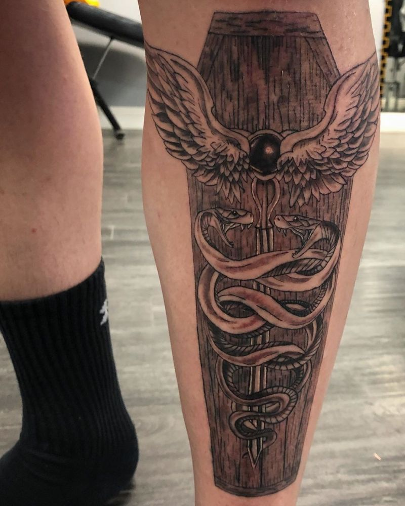 30 Pretty Caduceus Tattoos Make You Brave