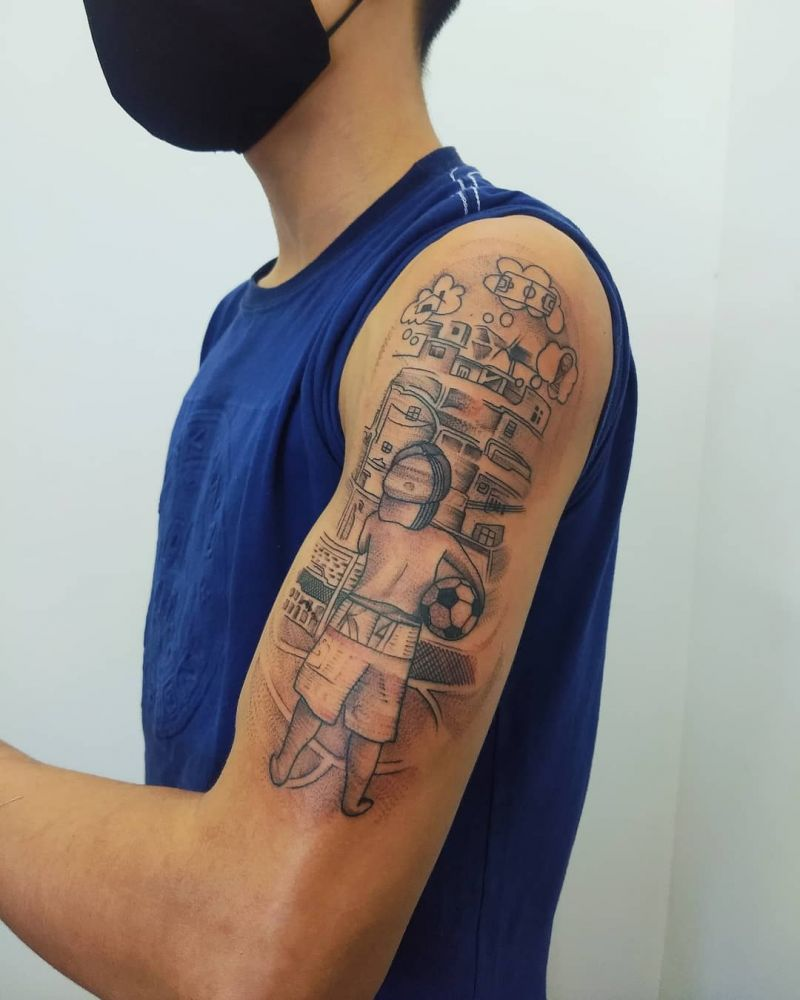 30 Pretty Football Tattoos Inspire You to Win The Game