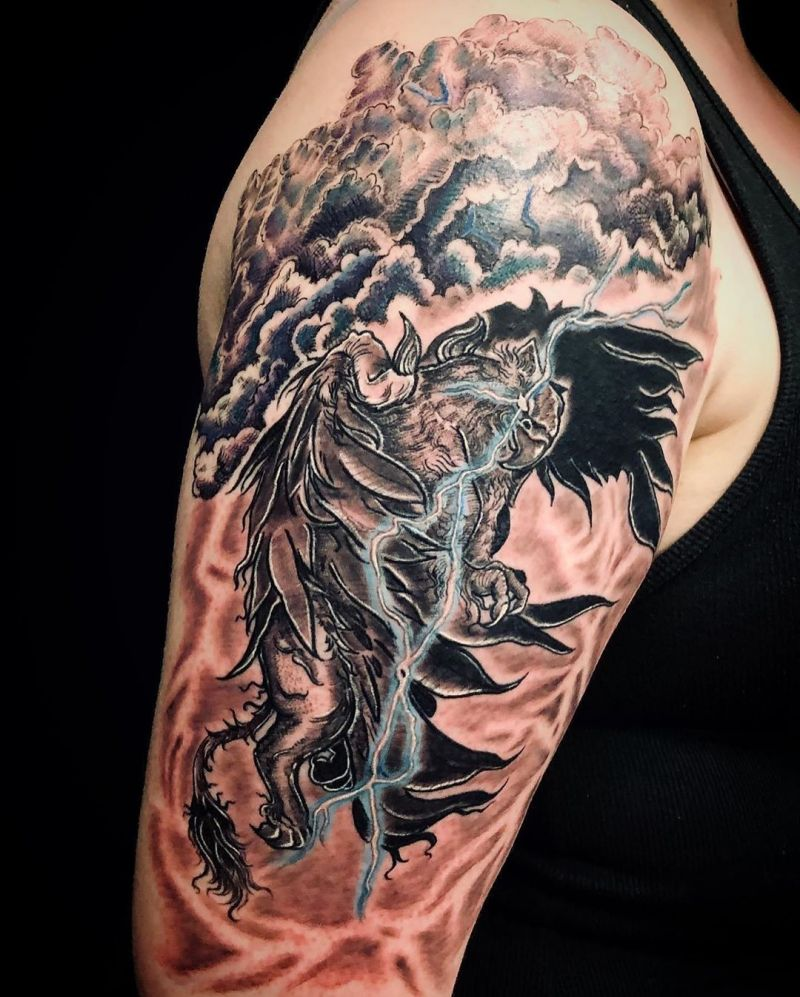 30 Pretty Griffin Tattoos Improve Your Temperament