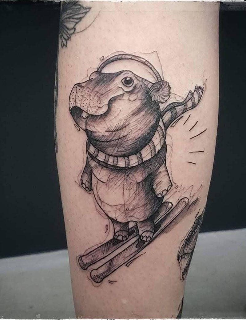 30 Perfect Hippo Tattoos Make You Attractive