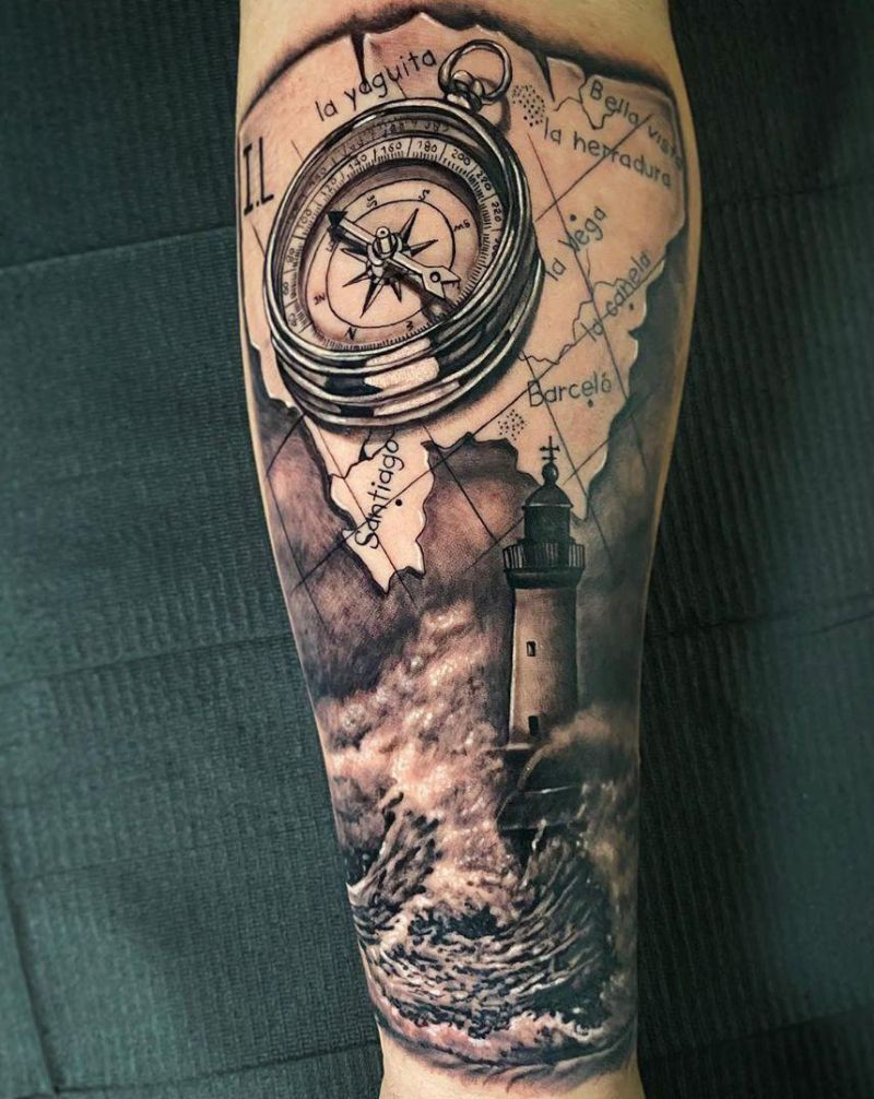 30 Stunning Lighthouse Tattoos Enhance Your Personality