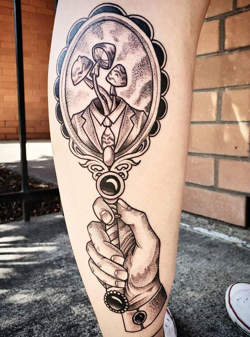 30 Pretty Mirror Tattoos for Inspiration