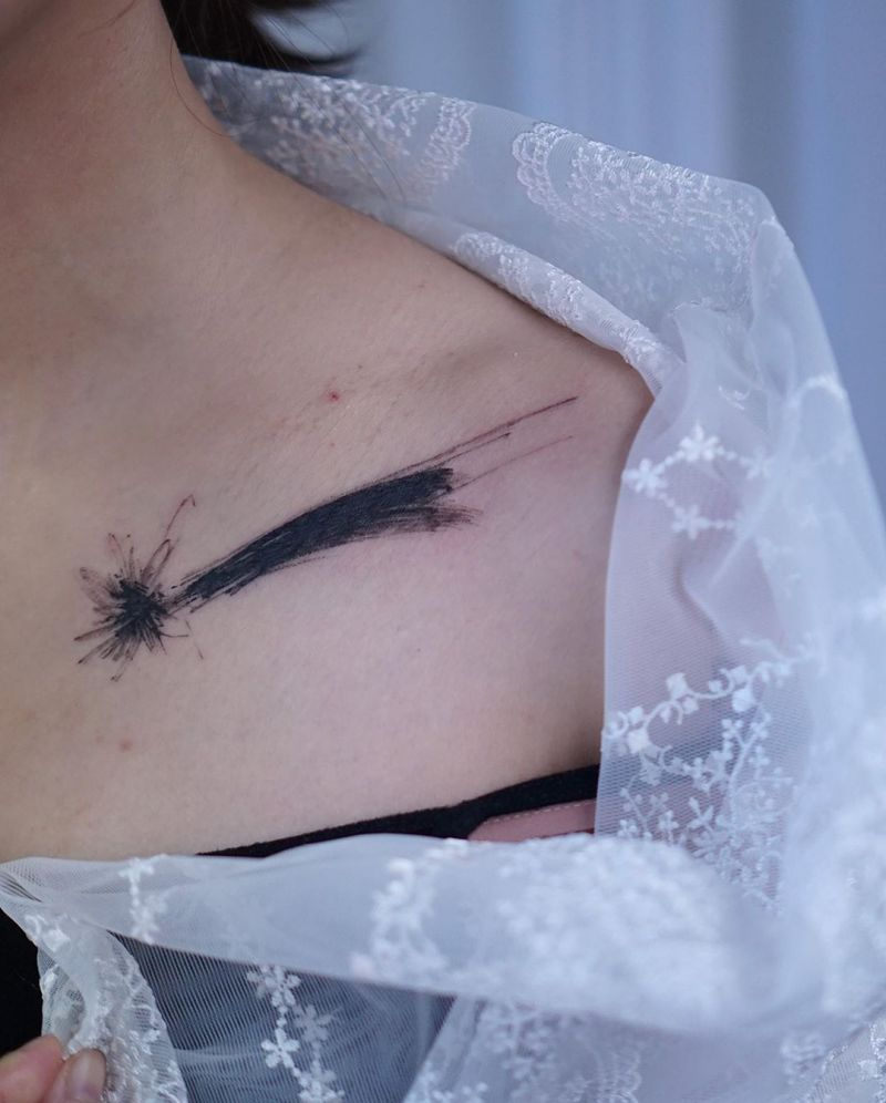 30 Creative Shooting Star Tattoos to Inspire You