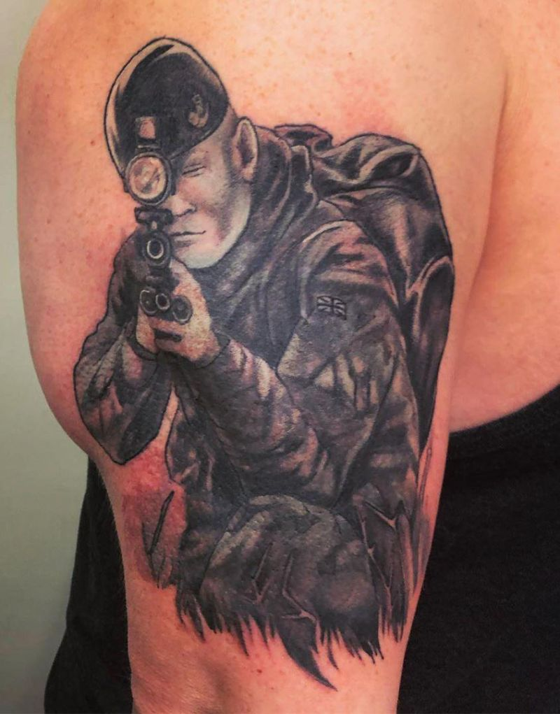 30 Superb Sniper Tattoos You Will Love
