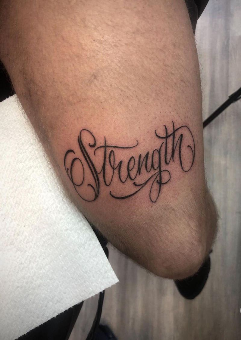 30 Pretty Strength Tattoos Improve Your Temperament