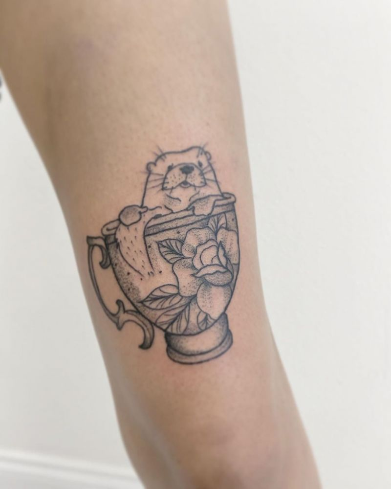 30 Pretty Teacup Tattoos Remind You to Rest