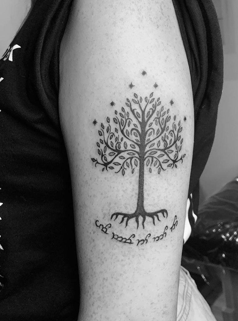 30 Pretty Tree of Gondor Tattoos Enhance Your Personality