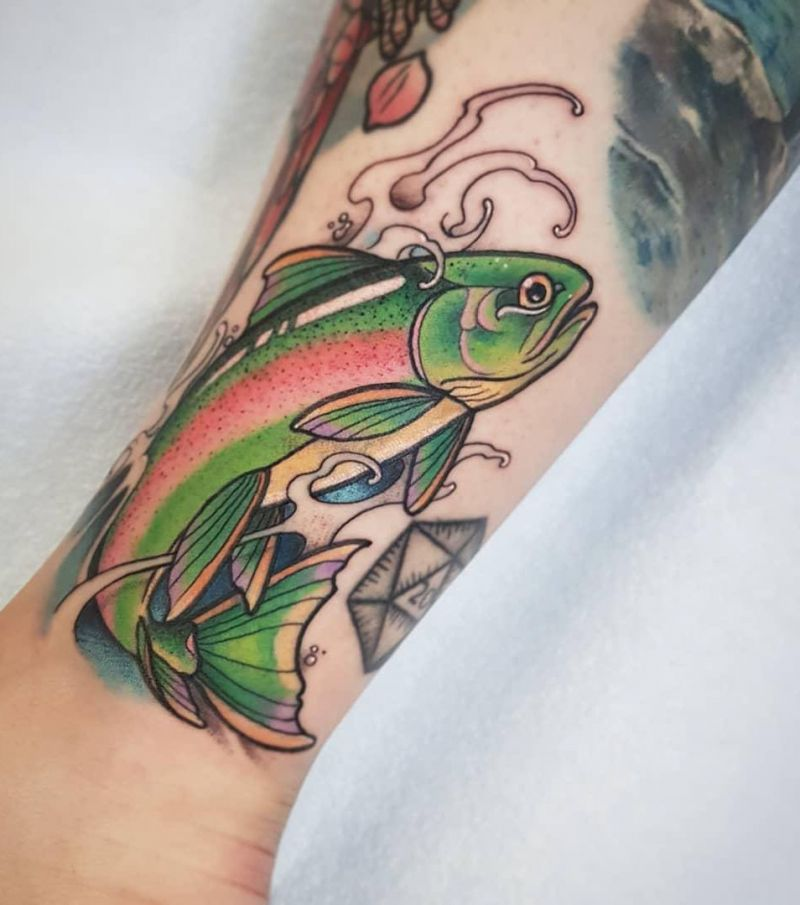 30 Elegant Trout Tattoos for Your Inspiration