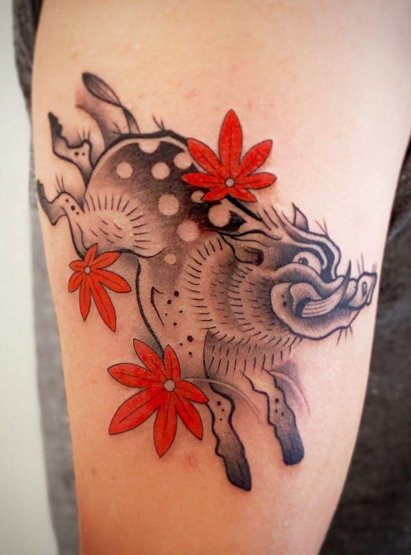 30 Pretty Wild Boar Tattoos You Must Try