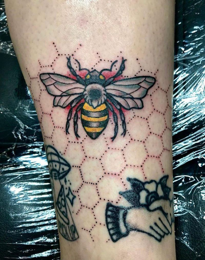 30 Pretty Honeycomb Tattoos You Will Love