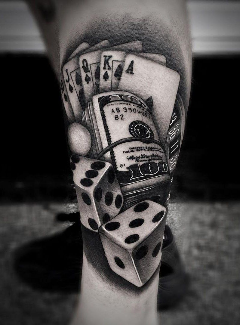 30 Perfect Gambling Tattoos Make You Attractive
