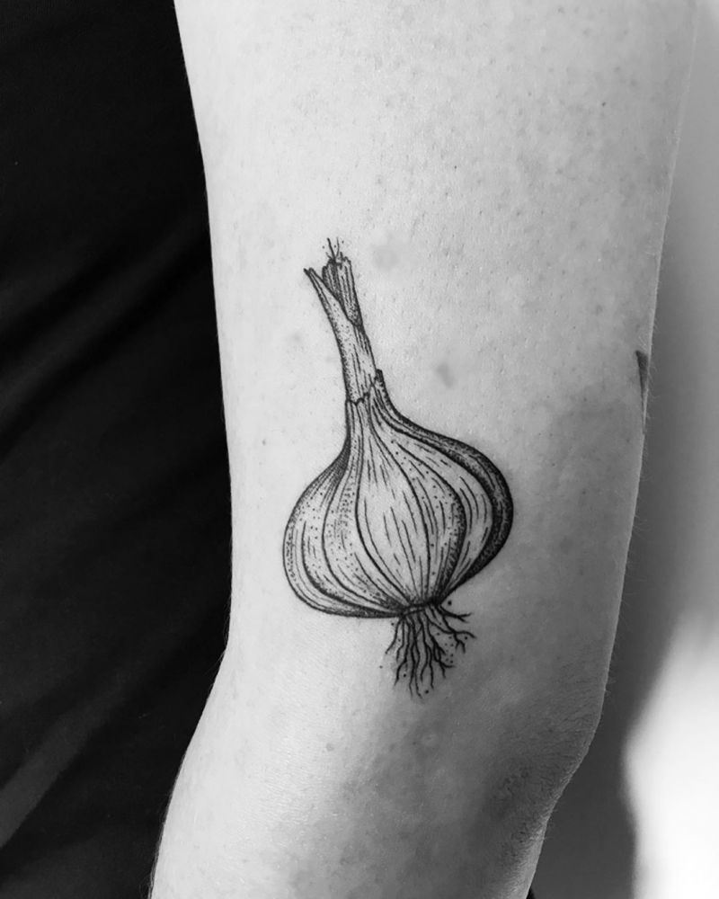 30 Pretty Garlic Tattoos to Inspire You