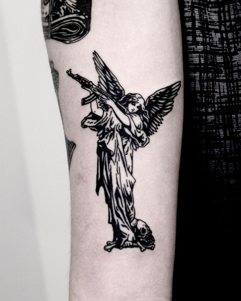 30 Pretty Gun Tattoos Enhance Your Personality Style Vp Page 23