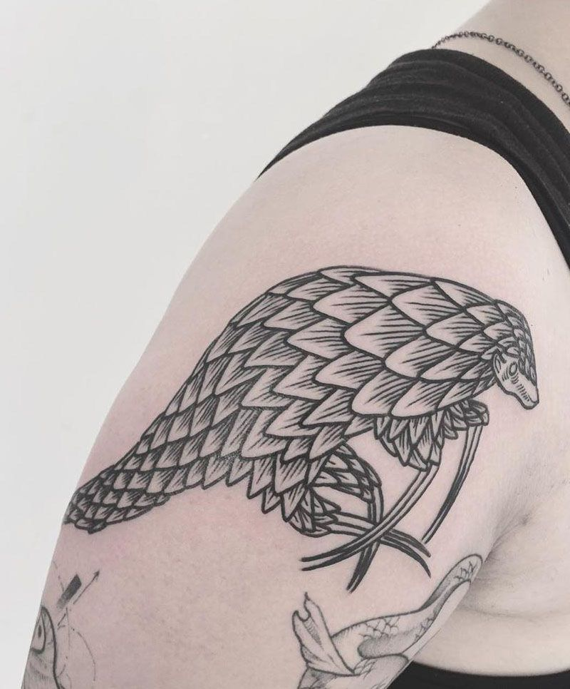 30 Pretty Pangolin Tattoos to Inspire You