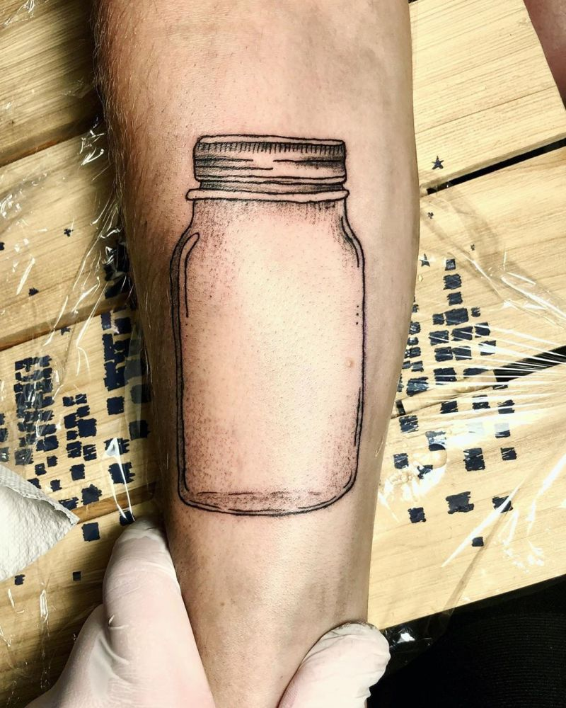 30 Pretty Jar Tattoos Make You Attractive