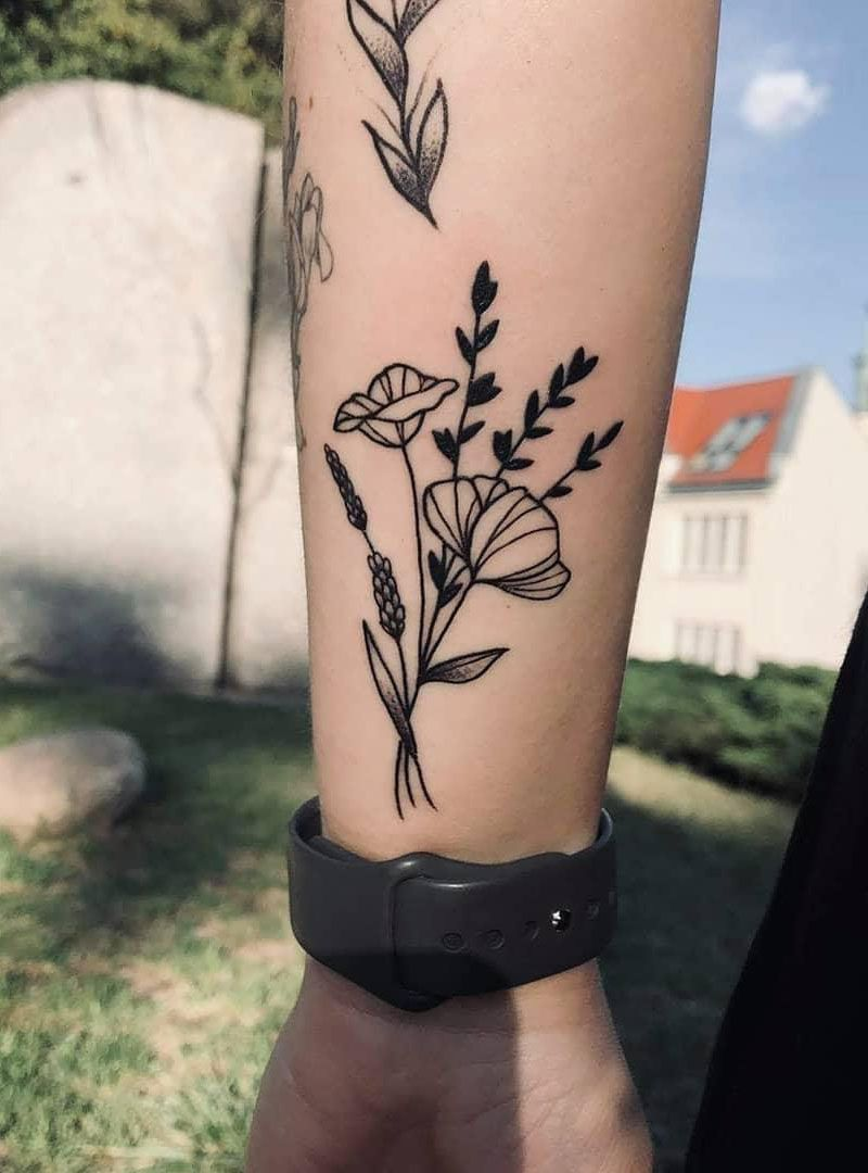 30 Pretty Wildflower Tattoos to Inspire You