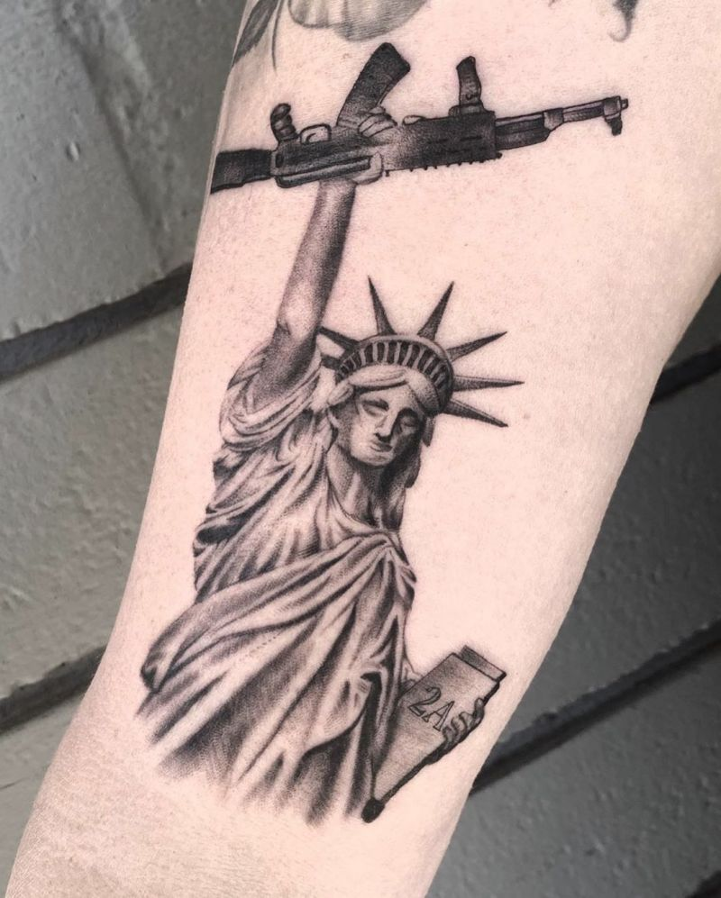 30 Pretty Gun Tattoos Enhance Your Personality Style Vp Page 27