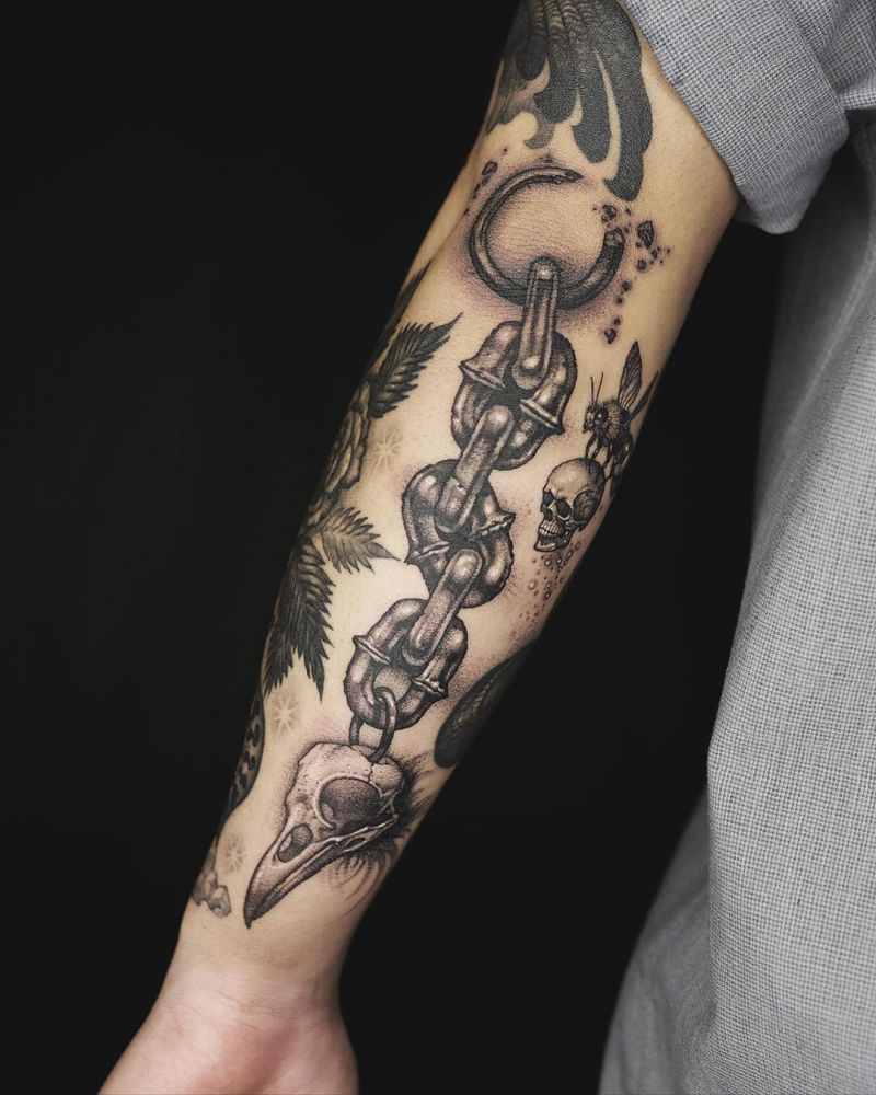 30 Pretty Chain Tattoos Make You Beautiful Forever