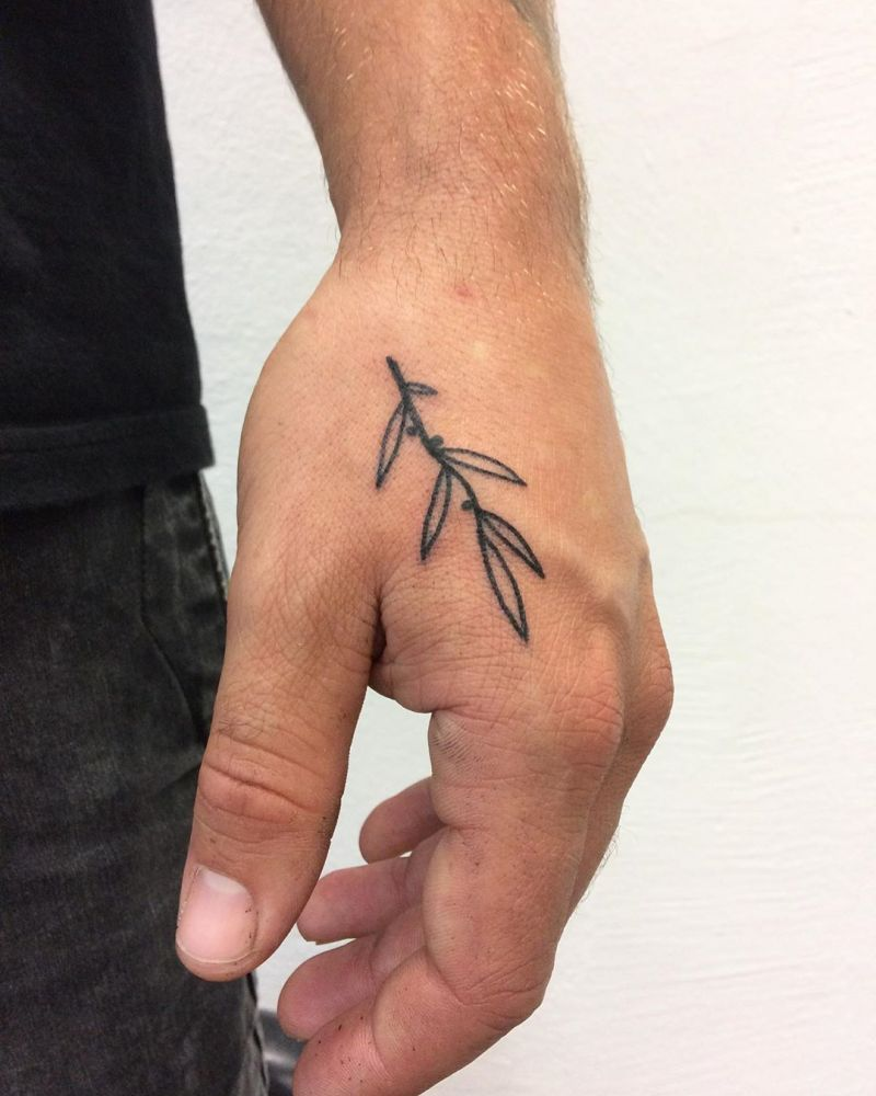 30 Pretty Olive Branch Tattoos You Will Love