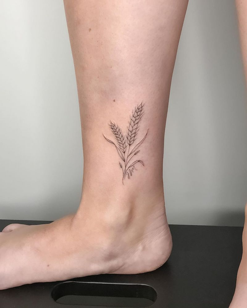 30 Pretty Wheat Tattoos to Inspire You