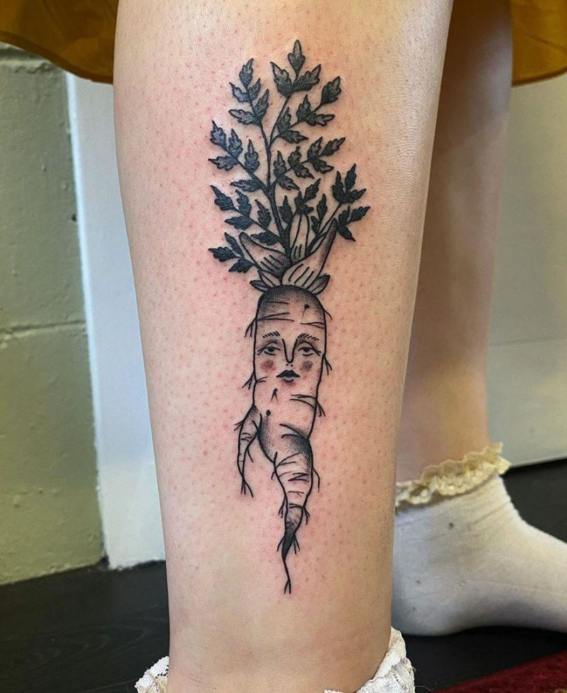 30 Pretty Carrot Tattoos You Will Love