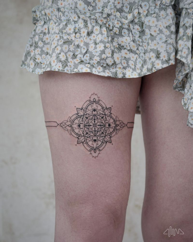 30 Pretty Garter Tattoos Make You Charming