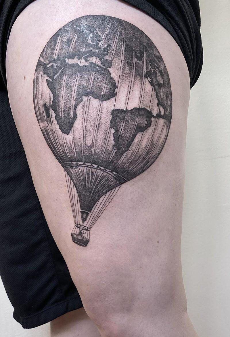 30 Pretty Hot Air Balloon Tattoos Let You Soar In The Sky