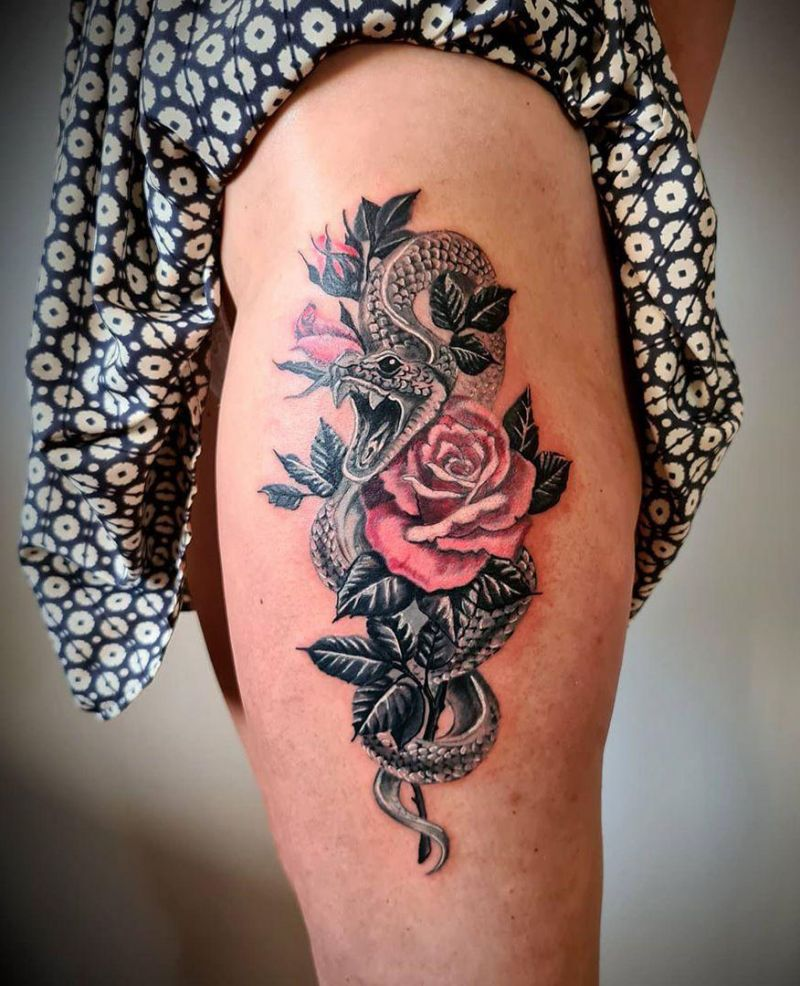 30 Pretty Viper Tattoos You Will Love