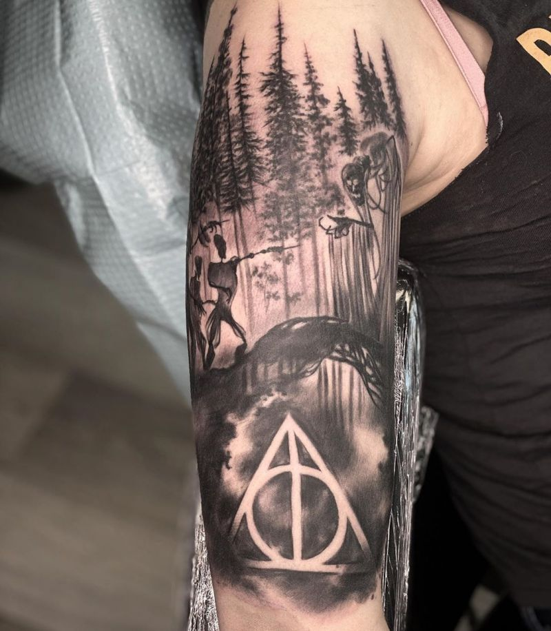 30 Pretty Harry Potter Tattoos Add Mystery to You