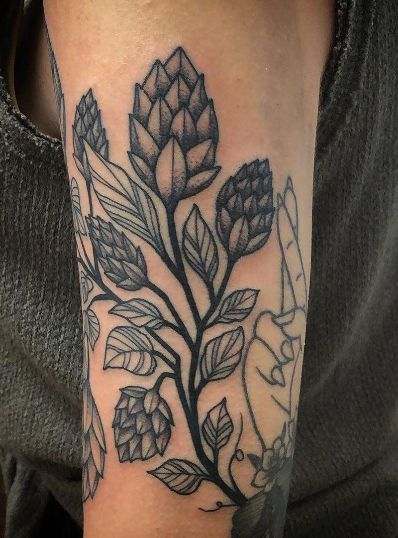 30 Pretty Hops Tattoos You Must Try
