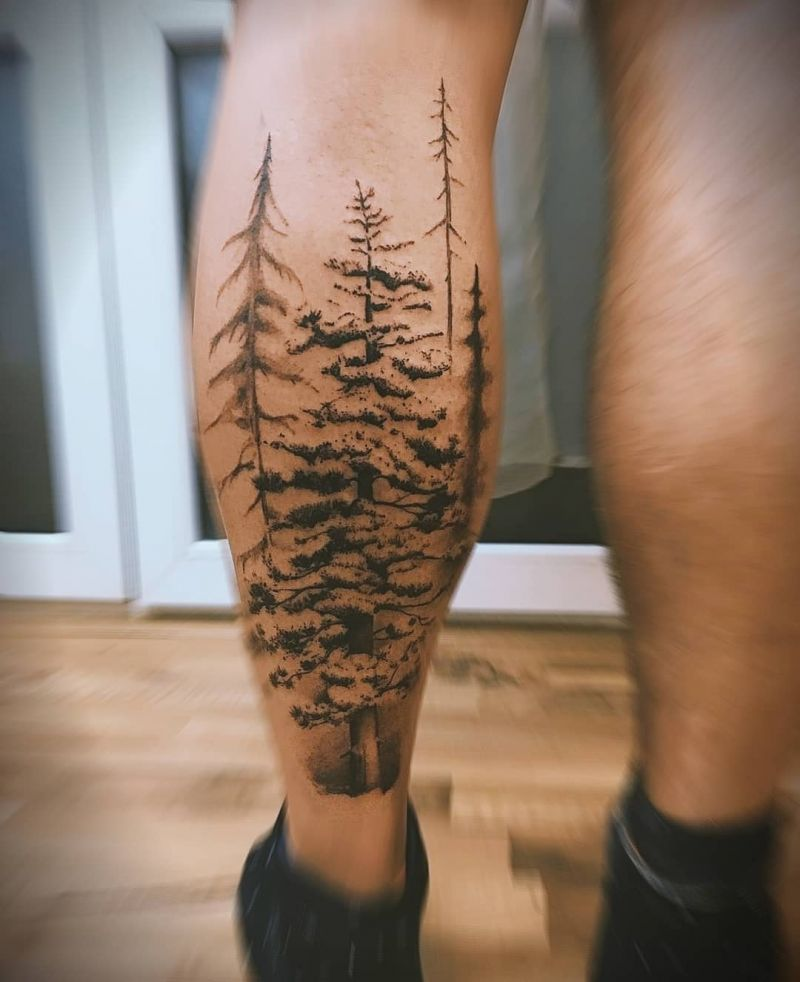 30 Pretty Fir Tree Tattoos You Will Love
