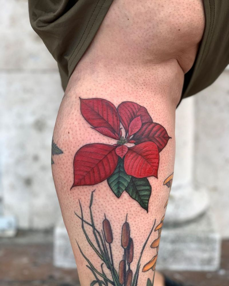30 Pretty Poinsettia Tattoos You Must Try