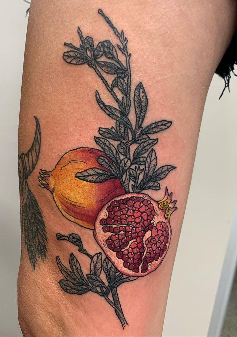 30 Pretty Pomegranate Tattoos Enhance Your Personality
