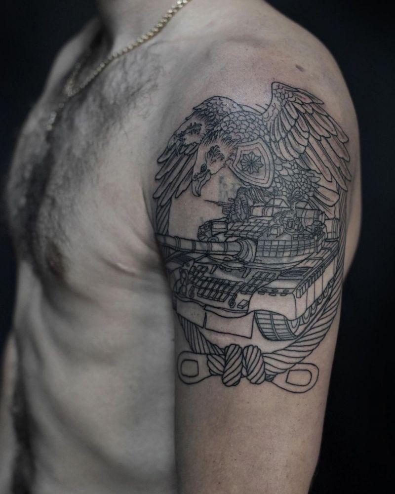 30 Pretty Tank Tattoos You Will Love