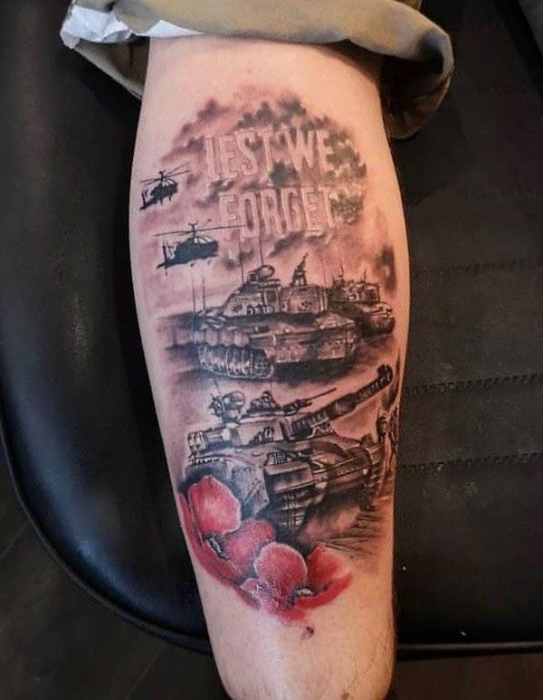 30 Pretty Tank Tattoos You Will Love