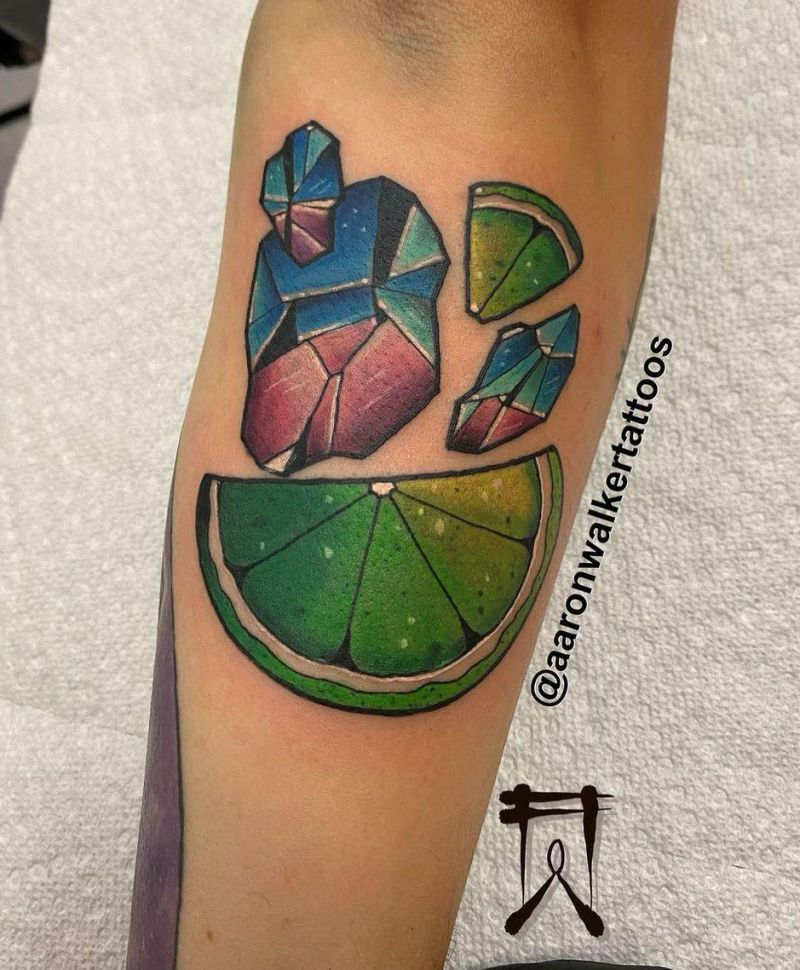 30 Pretty Lime Tattoos You Will Love