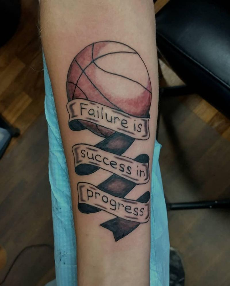 30 Pretty Basketball Tattoos for Inspiration