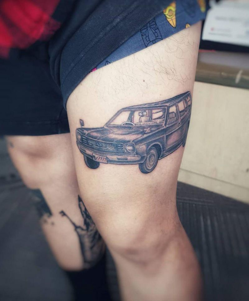 30 Pretty Car Tattoos for Inspiration